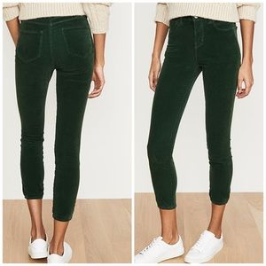 L'AGENCE Margot Cord High Rise Skinny ankle Jeans
